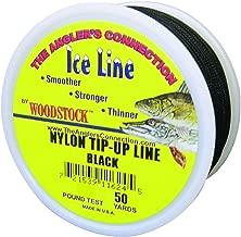 Woodstock Line TU-50-20-B No. 20 Tip-Up Line, Black, 50-Yard