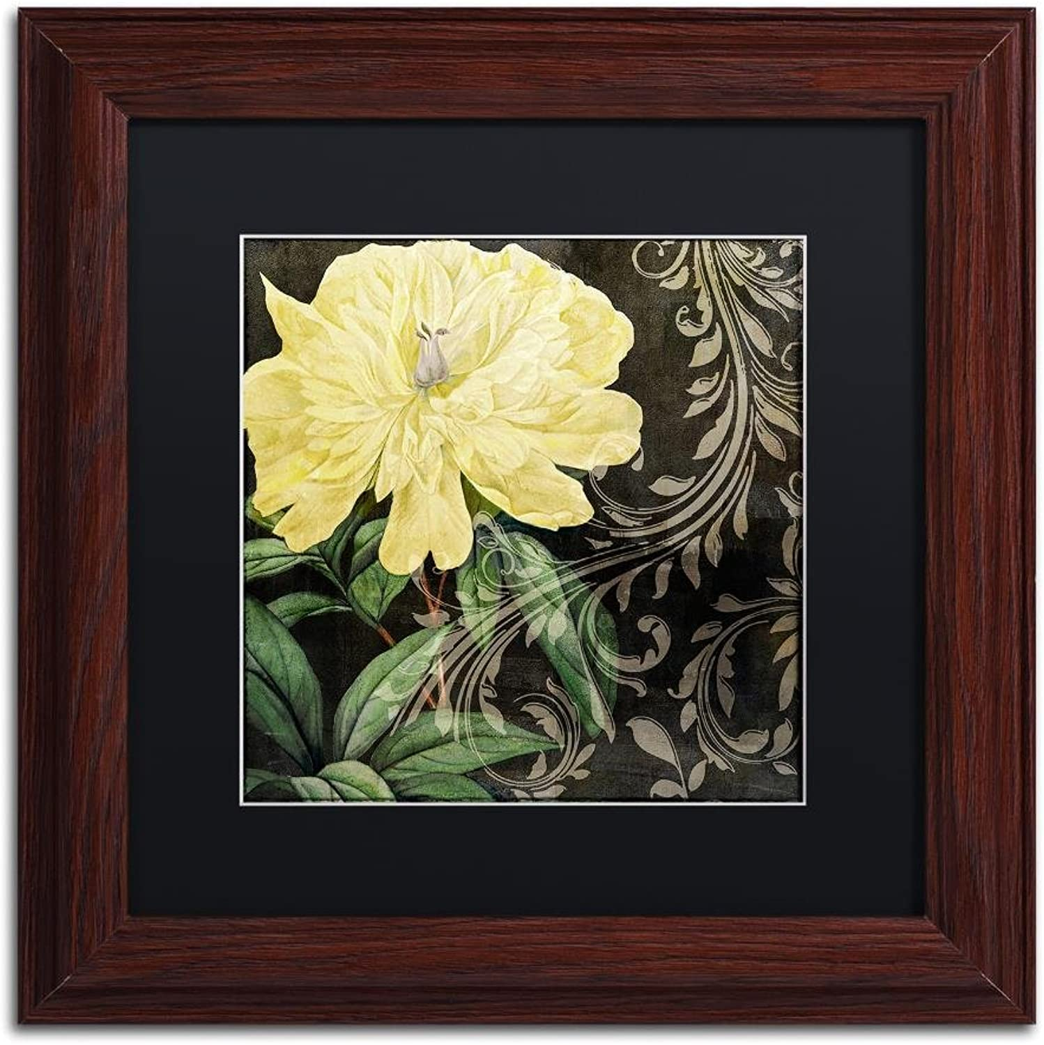 Trademark Fine Art Ode to Yellow I by color Bakery, Black Matte, Wood Frame 11x11, Wall Art