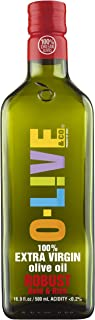 O-Live & Co. Premium Robust 100% Extra Virgin Olive Oil - Estate Grown & Bottled - Non-GMO Kosher - 16.9 Fl Oz - Carbon Neutral Sustainable Process - Glass Bottle