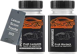 TRISTARcolor Autolack Lackstift Set für Lexus/Scion/Toyota 202 Noir/Black Onyx Basislack Klarlack je 50ml