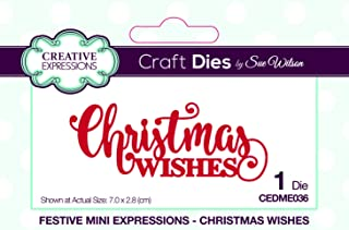 Creative Expressions Festive Mini Expressions Christmas Wishes Craft Die, CEDME036