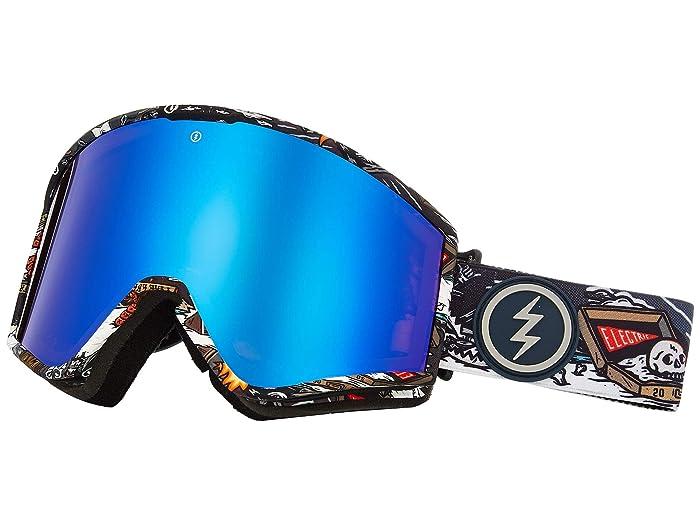 Electric Eyewear Kleveland (Curl Brose/Blue Chrome) Athletic Performance Sport Sunglasses