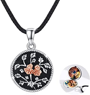 S925 Sterling Silver Vintage Rose Locket Necklace That Holds 2 Pictures Photo Locket Necklace Jewelry Valentine's Day Than...