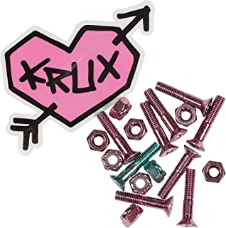 Krux Trucks Krome Phillips Head 7 Pink/1 Blue Skateboard Hardware Set - 1