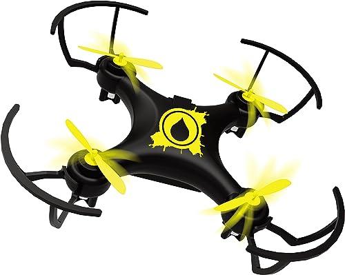 Auto schwebt Drohne (gelb) AH DRONE