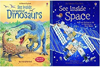 Usborne Flap Book, See Inside Collection 3 Books Set (The World of Dinosaurs, See Inside Space, See Inside Your Body)
