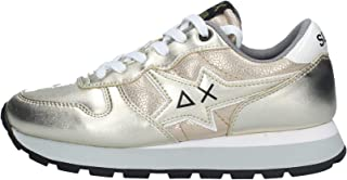 SUN68 Sneaker Running Ally Star in Pelle Gold Donna D21SU03