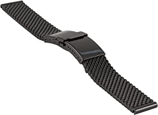 milanaise/mesh Watch Strap Deluxe with Deployment Clasp with flip-Lock Buckle, Width 20 mm, 2784