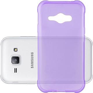 Cadorabo Funda para Samsung Galaxy J1 Ace en Transparente Lila – Cubierta Proteccíon de Silicona TPU Delgada e Flexible con Antichoque – Gel Case Cover Carcasa Ligera
