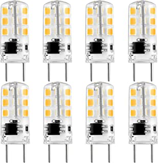 Luxrite G8 LED Bulb 20W Equivalent, 120V, 2700K Warm White, 140 Lumens, 2W, Silicone Shatterproof - Under Cabinet, Chandelier, Puck, Pendant, and Accent Lighting (8-Pack)