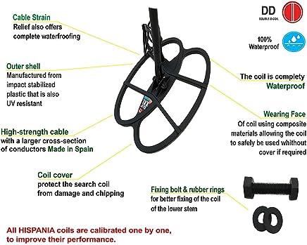 Hispania Technologies Plato Black Dog para Detector de Metales Teknetics Alpha, Gamma, Delta,