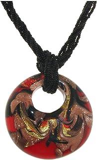 Venetiaurum - Collana Donna con Medaglione in vetro originale di Murano e argento 925 - Gioiello made in Italy certificato