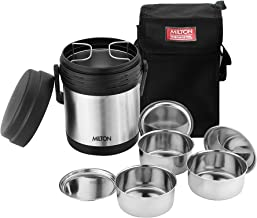 Milton Thermosteel Hot Meal 3 Container Lunch Box, Silver