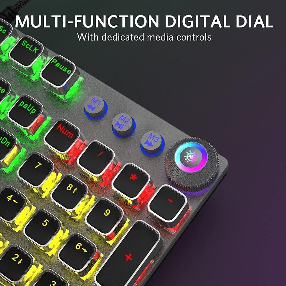 AULA Gaming Keyboard USB Wired Keyboard, Mechanical Keyboard, Ergonomic design, Light Keyboard Desktop