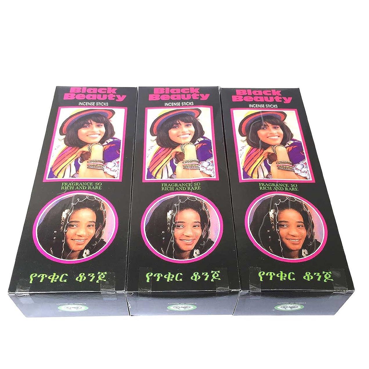 外部自発ねばねばブラックビューティー香スティック 3BOX(18箱) /CYCLE BLACK BEAUTY/インセンス/インド香 お香 [並行輸入品]