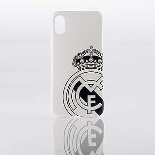 e8ba4faa4ff Real Madrid Funda Smartphone - Blanca con el Escudo Oficial en Negro y  Compatible con Apple