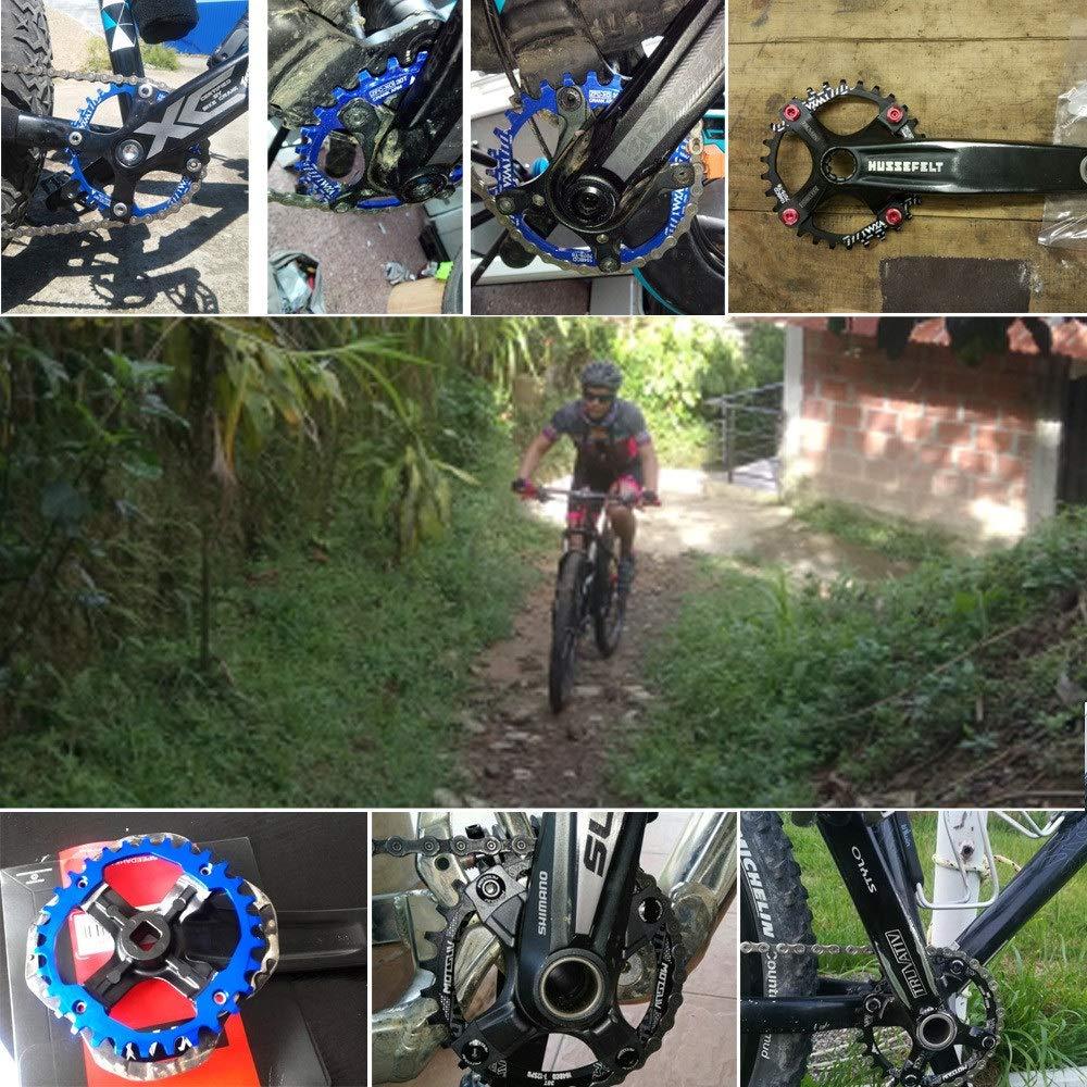 Plato de bicicleta MTB - 30T redondo de la bicicleta plato 104BCD ...