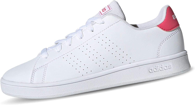 adidas Advantage Girl's Low Top Lifestyle Sneakers White Size 6