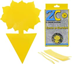 Yellow Dual Sticky Fly Traps (10 Pack) for Fruit Fly Gnat Whiteflies Fungus Gnats Small..