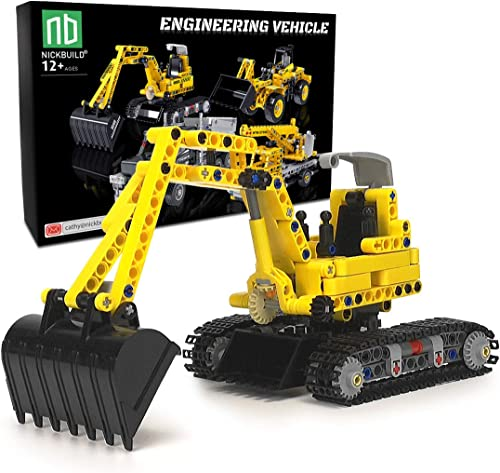 new arrival Nickbuild Crawler Excavator outlet sale Building Blocks Sets, Construction Toy, Engineering Vehicle Changeable Educational Build outlet online sale Brick Toys, Gift for Kids and Teens(310 PCS) outlet online sale