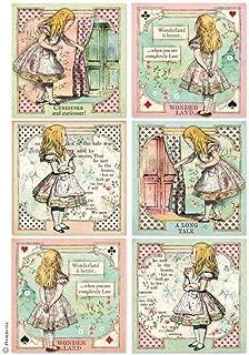 Stampería Papel de Arroz A4 Tarjetas de Alice