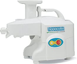 Green Power Hippocrates Twin Gear 'Plus' 1305 Juicer - 5 Star Extractor Latest Model Kempo Featuring New & Improved 'Jang' Twin Gears (White)