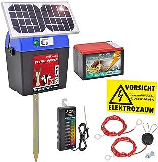 Voss.farming Kit Pastor eléctrico Solar Extra Power 9V con Accesorios