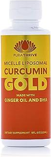 Sponsored Ad - PuraTHRIVE Micelle Liposomal Curcumin Gold Liquid Supplement, Contains Curcumin Extract, DHA, Ginger Oil, 8...