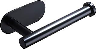 ZUNTO Porte-papier toilette auto-adhésif, porte-rouleau de papier toilette en acier inoxydable, sans perçage, noir