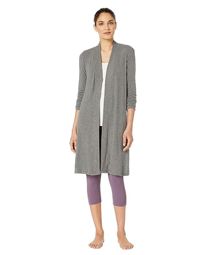 Beyond Yoga High Slits Long Duster (Mid/Heather Gray) Women's Sweater