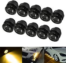iJDMTOY 10pc 30W High Power Flexible LED Lighting Kit For Daytime Running Light or Under Car Puddle Light, 3000K Selective Yellow