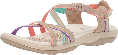 Skechers Women's Reggae Slim-Multi-Colored Strappy Adjustable Slingback-Vacay Sandal