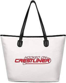Designer Tote Bag for Women Crestliner-logo-leader-red- Canvas Durable Handles Travel Handbags