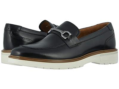 Florsheim Astor Moc Toe Bit Loafer (Black Smooth/Cream Sole) Men
