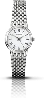 Women's Quartz Watch with White Dial Analogue Display and Silver Stainless Steel Bracelet 4089.27