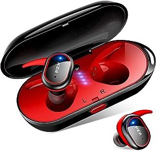 【令和進化版 Bluetooth5.0】Bluetooth イヤホン 自動ペアリング HiFi高音質 完全ワイヤレス イヤホン タッチ式 ブルートゥース イヤホン IPX6防水 軽量 マイク付き Siri対応 左右分離型 片耳&両耳とも対応 日本語音声提示 iPhone/iPad/Android対応 (レッド)