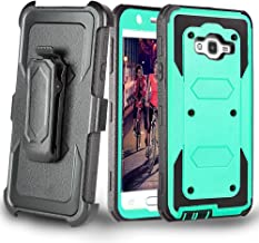 J.west Galaxy J7 Case, Full Body Rugged Heavy Duty Armor Shock Proof Dual Layer Locking Belt Swivel Clip with Kickstand Holster Case for Galaxy J7 (2015)(Boost,Virgin,T-Mobile,Metro PCS) Mint
