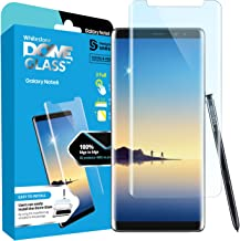 Dome Glass Galaxy Note 8 Screen Protector Tempered Glass Shield, [Liquid Dispersion Tech] 3D Curved Full Coverage, Easy Install Kit and UV Light for Samsung Galaxy Note 8 (Replacement Only)