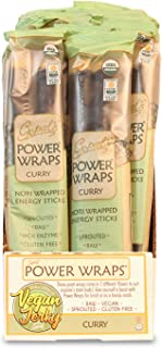 Gopal's Curry Power Wraps, Vegan and Gluten-Free Organic Food, Raw and USDA Certified Nori-Wrapped Energy Sticks 1.8 Ounces (Pack of 24)