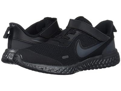Nike Kids Revolution 5 (Little Kid) (Black/Black/Anthracite) Boys Shoes