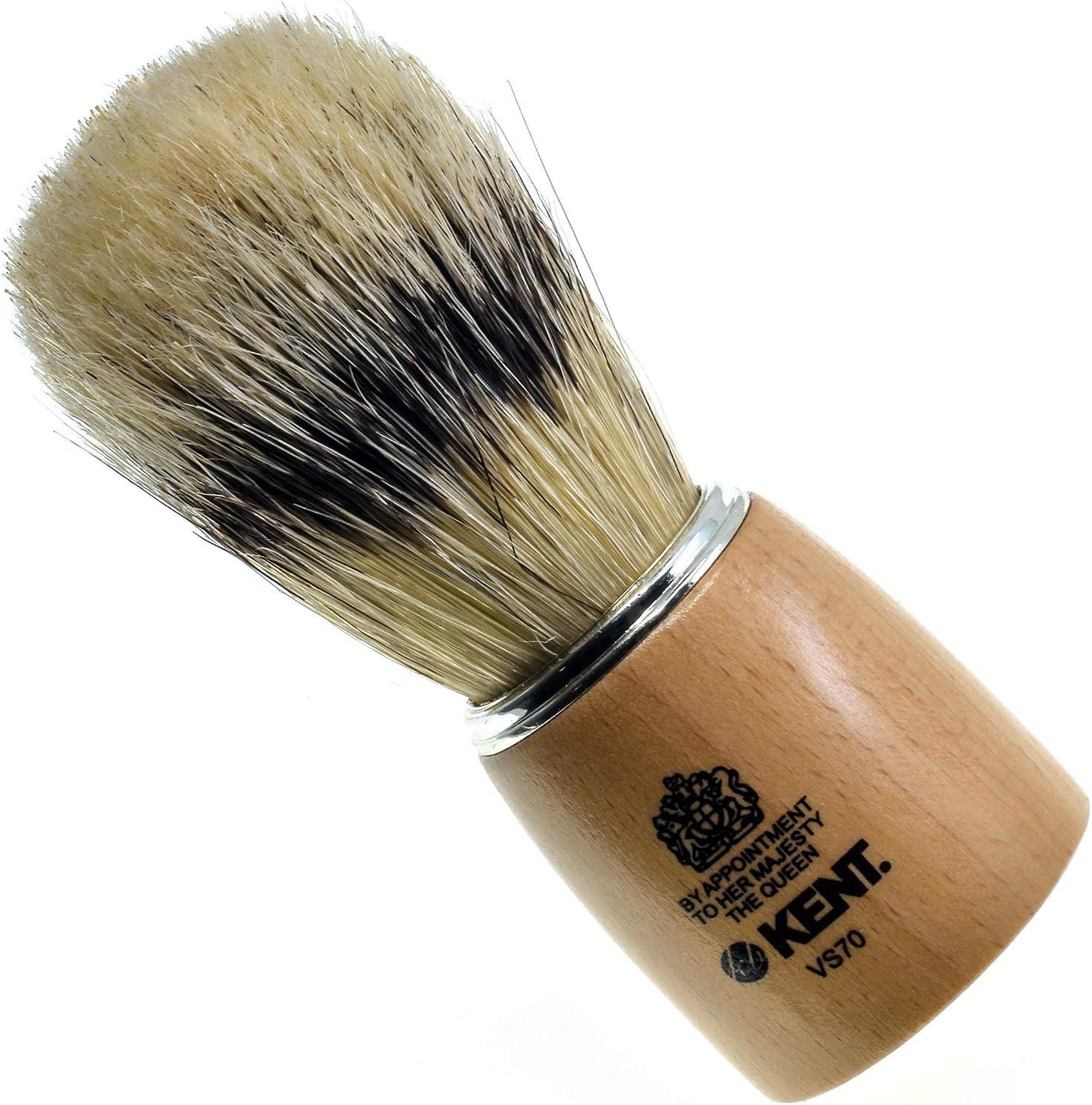 Kent VS70 Manufacturer regenerated product Natural Badger Bristle M Shaving Brush Kit for A surprise price is realized
