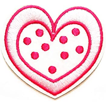 Heart badge collection t-shirt bag Iron//Sew on Embroidered Patches jeans