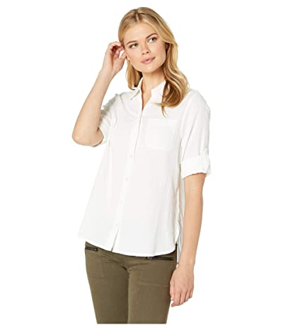 Jag Jeans Adley Button Up Shirt (White) Women