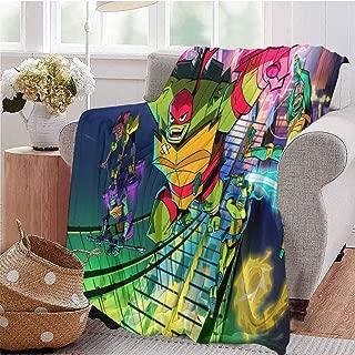 HouseDecor Picture Blanket Teenage Mutant Ninja Turtles Comfortable and Warm 60X50 Inch