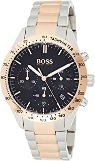 Hugo Boss Men's Black Dial Stainless Steel Band Watch - 1513584