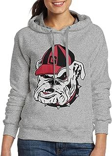 Womens Sportswear Drawstring Hoodie Sweatshirt,University Of Georgia Bulldogs Ash