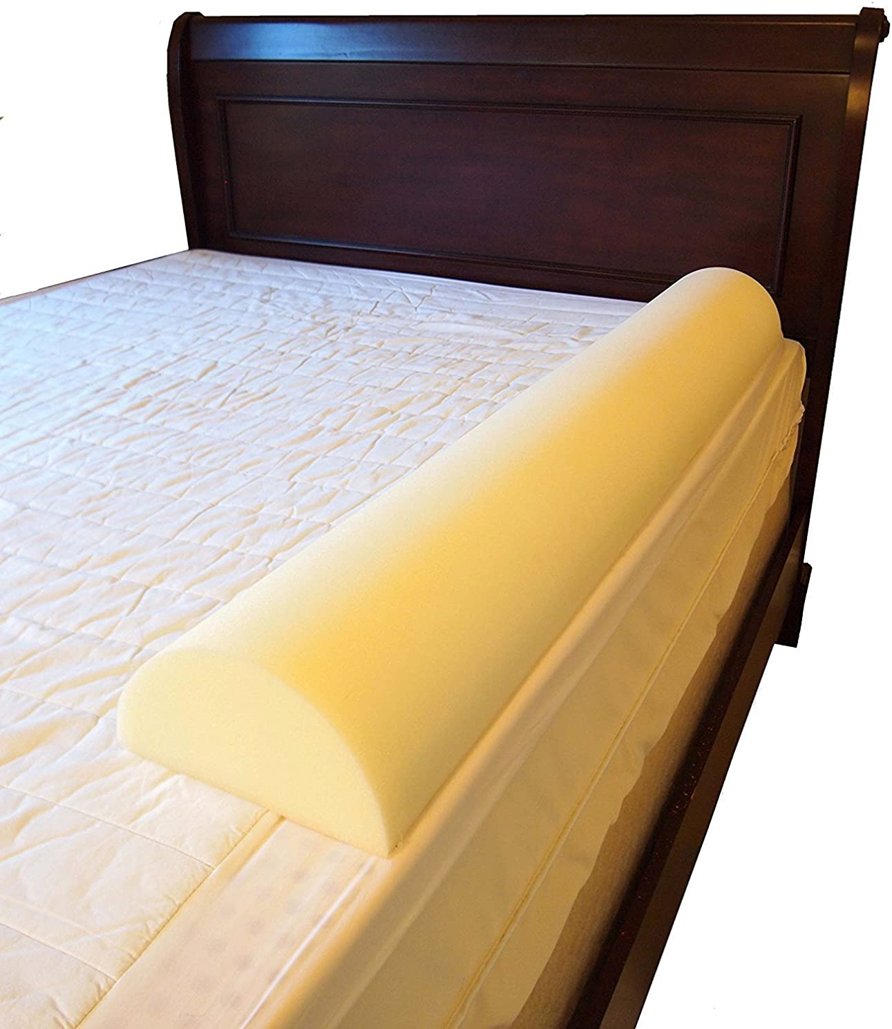 Put Big Girl/Boy Semicircle Bed Rail Bumper Pad for Toddler ((Set of 2) 7 inch by 51 inch Semicircle)