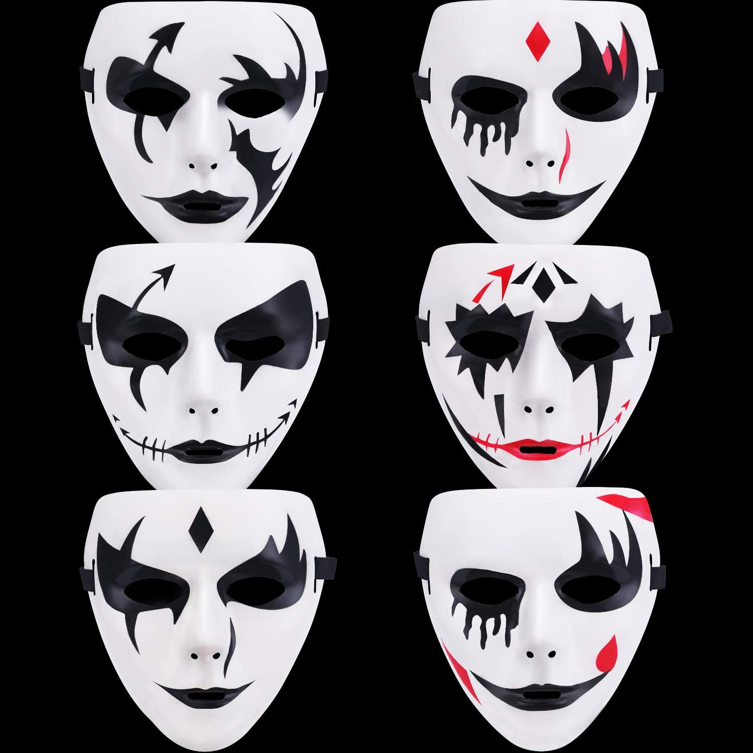 6 Pieces Ghost Cosplay Mask Hallo All items free shipping Types Full Costume Face trust