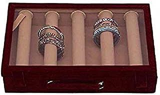 Kuber Industries Wooden 5 Rod Bangle Box, Maroon (BBTR209_3), Standard