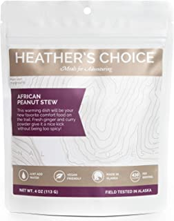 Heather's Choice, African Peanut Stew, Backcountry Dinner, Wholesome, Allergen-Friendly Dehydrated Food for Backpacking, Camping, Hunting and Travel